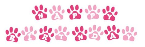 happy birthday paws pink copy