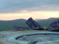 Scottie Ribbon on top of the world, Scotland July 11 2013